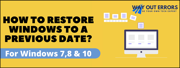 How to Restore Windows to a Previous Date