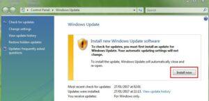Install new Windows update software on Vista