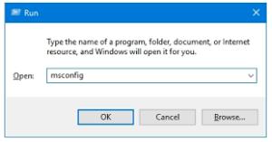 Windows System Configuration Utility