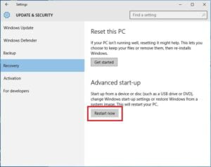 Windows Recovery Get Started