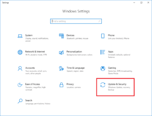 Windows Update and Security Settings