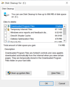 Windows Disk Cleanup for C